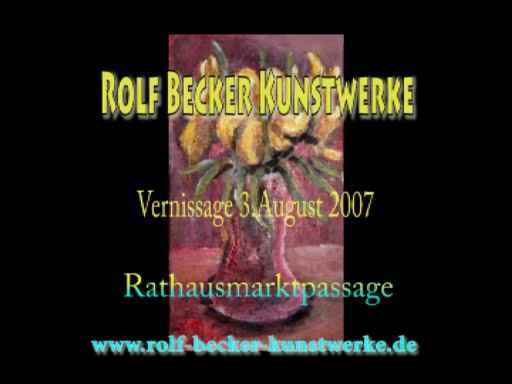 Vernissage in der Rathauspassage Hamburg